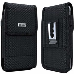 Bomea Samsung Galaxy S10e S7 S8 Holster Rugged Cell Phone Belt Case with Belt Clip Holster Pouch for Galaxy S10e S7 S8 Fits Cellphone with Otterbox CaseLifeproof Case on Black 0