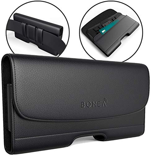 buy online 89f0e 5360e Bomea Cell Phone Holster Case for iPhone XR, Premium Leather Pouch Case  with Belt Clip and Loop | Built-in ID Card Holder | Magnetic Closure Cover  ...