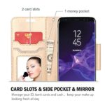 ProCase Galaxy S9 Wallet Case Flip Kickstand Case with Card Holders Mirror Wristlet Folding Stand Protective Book Case Cover for 58 Inch Samsung Galaxy S9 2018 Release 0 0