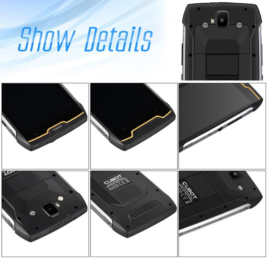 Cubot KingKong IP68 Waterproof Rugged Smartphone 4400mAh Big Battery 3G  Dual-SIM Android 7 0 2GB RAM 16GB ROM Compass+GPS MT6580