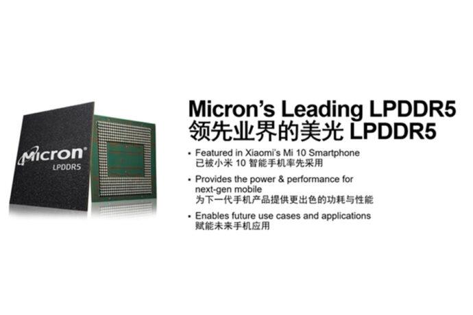 Micron LPDDR5 RAM Xiaomi Mi 10